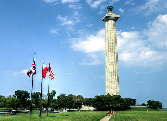 Perry Monument and Flags